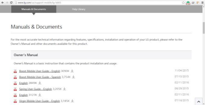 LG User Manual Download