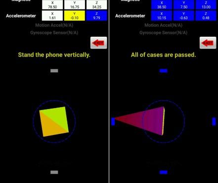 tribute hd accelerometer test