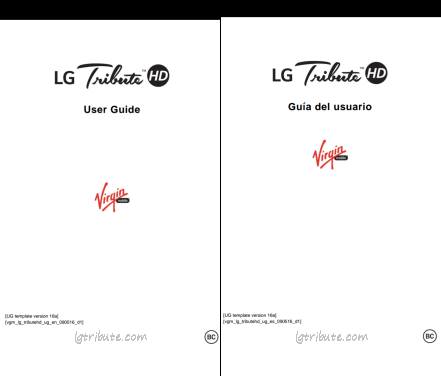 LG Tribute HD User Manual PDF Download-Sprint,Boost & Virgin