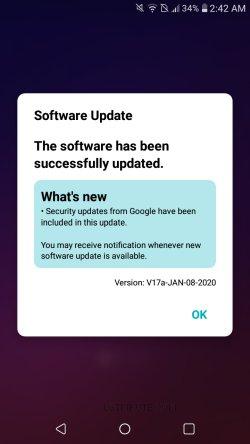 software update lg tribute empire