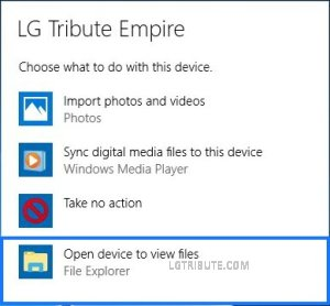lg tribute empire connect to computer