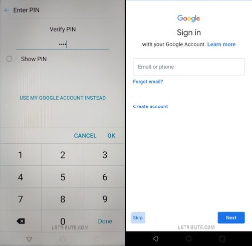 LG Tribute Royal Google Lock Bypass