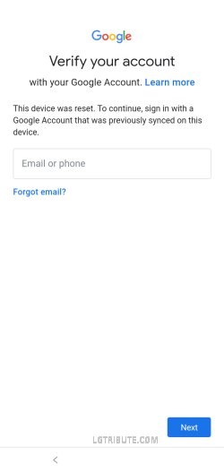 how to bypass google verification on lg tribute monarch