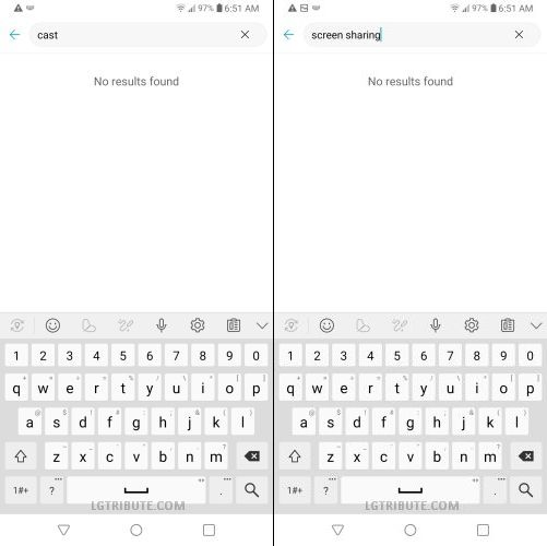 does lg stylo 5 have screen mirroring
