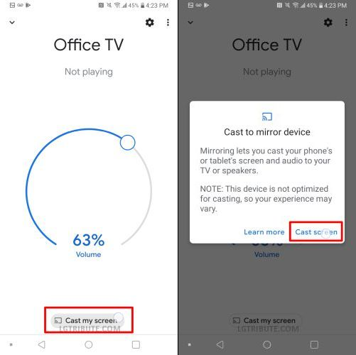 does lg stylo 5 support miracast
